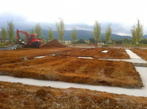 The Lapidus Home receives it's freshly poured foundation