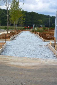 New Sidewalk Forms along Dewitt Drive about to receive fresh concrete