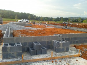 Block is laid on a LENDON Foundation