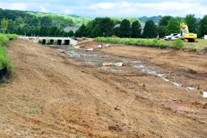 Landscaping begins inside Lendon Canal