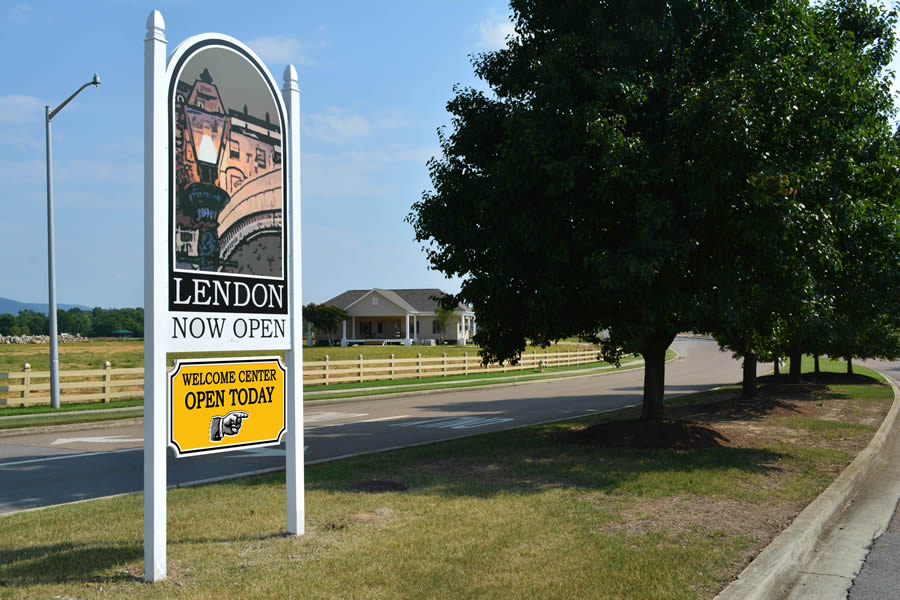 LENDON's on-site Welcome Center (background - off Carl T. Jones Rd.) Now Open with New Hours!