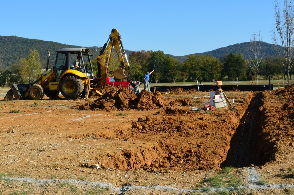 12. Digging the foundation for another New LENDON Home. _0797